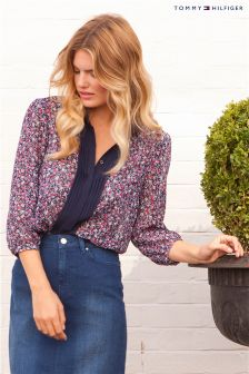Tommy Hilfiger Floral Ruffle Blouse