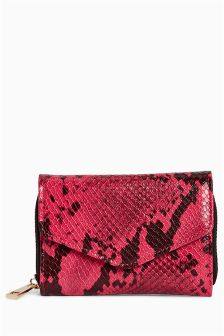 Snake Effect Envelope Purse