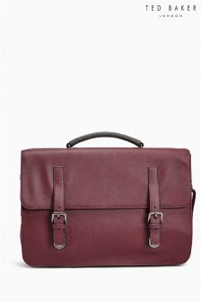 Ted Baker Burgundy Lansky Cross Grain Satchel