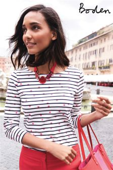 Boden Pink Spot Make A Statement Breton
