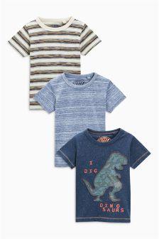 Dino T-Shirts Three Pack (3mths-6yrs)