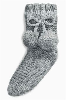 Knitted Slipper Socks (Older Girls)