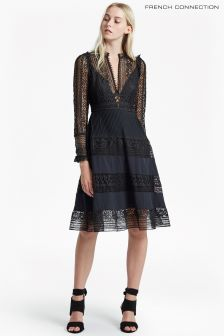 French Connection Black Orabelle Lace Dress