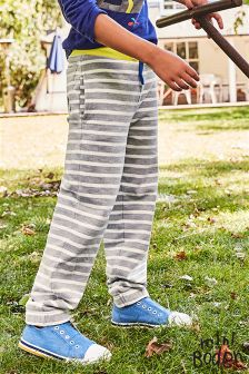 Boden Grey Stripe Fun Track Pant