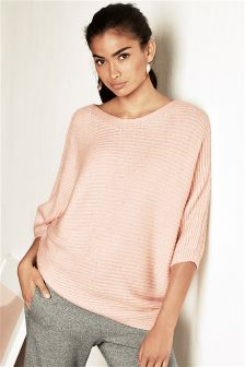 Oversized Asymmetric Ripple Sweater