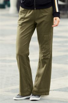 Patch Wide Leg Trousers
