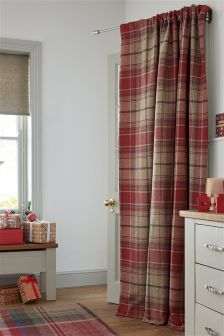 Morcott Woven Check Door Curtain