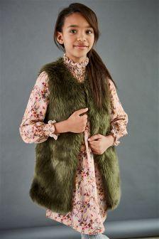Floral Shirred Neck Dress (3-16yrs)