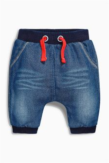 Jersey Denim Relaxed Joggers (0mths-2yrs)