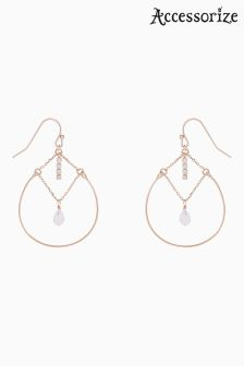 Accessorize Rose Gold Sabina Layered Hoop Earrings