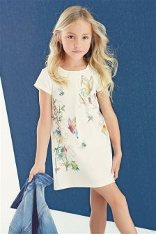 Printed Ponte Dress (3-16yrs)