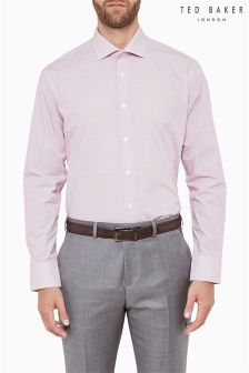 Ted Baker Red Print Formal Shirt