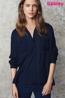 Superdry Navy Ava Boyfriend Shirt