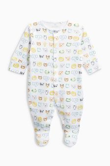 Jungle Animal Print Sleepsuit (0mths-2yrs)