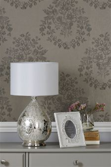 Embroidered Ombre Leaf Paste The Wall Floral Bouquet Wallpaper