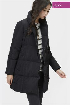 Joules Mottisfont Black Feather And Down Coat