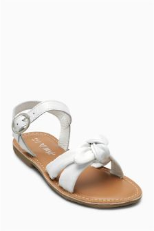 Bow Leather Sandals (Younger Girls)