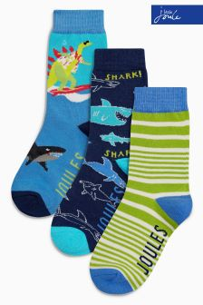 Joules Black Shark Socks Three Pack