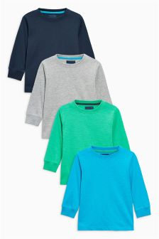 Long Sleeved Tops Four Pack (3mths-6yrs)