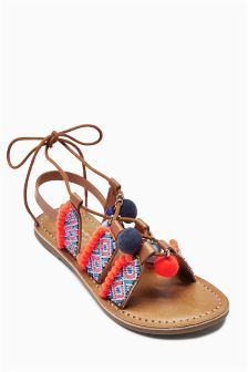 Pom Pom Sandals (Older Girls)