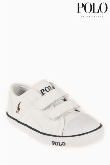 Ralph Lauren White Daymond Trainer
