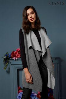 Oasis Grey Double Cloth Drape Knit