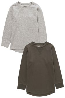 Two Pack Long Sleeve Top (3-16yrs)
