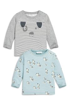 Dog T-Shirts Two Pack (0mths-2yrs)