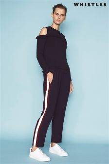Whistles Navy Stripe Elyse Trouser