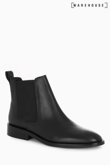 Warehouse Black Chelsea Boot