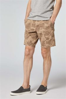 Printed Chino Shorts