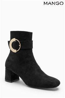 Mango Black Buckle Boot