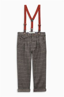 Textured Smart Trousers (3mths-6yrs)