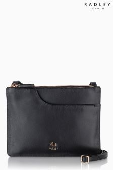 Radley® Black Pockets Medium Zip Top Across Body Bag