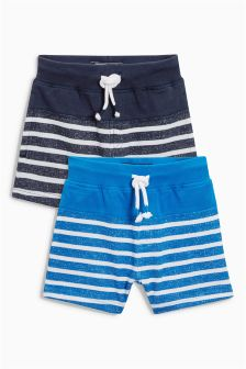 Textured Stripe Shorts Two Pack (3mths-6yrs)