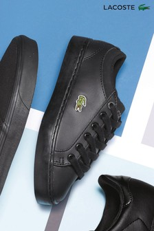 Lacoste Straightset Black Trainer