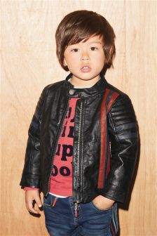Mock Leather Motocross Jacket (3mths-6yrs)