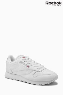 Reebok White Classic Leather Trainer