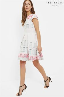 Ted Baker Baby Pink Deonny Window Box Skater Dress