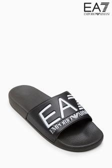 Emporio Armani EA7 Black Logo Slider