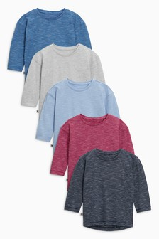 Wizzy Stripes Long Sleeve T-Shirts Five Pack (3mths-6yrs)