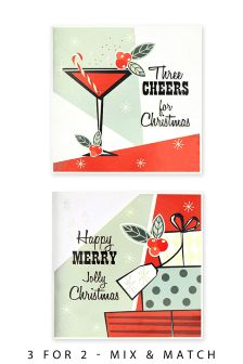 12 Cocktail And Present Cards
