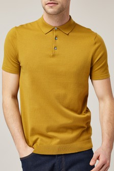 Short Sleeve Knitted Polo