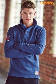 Superdry Navy Henley Top