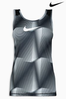 Nike Black/White Pro Cool Tank