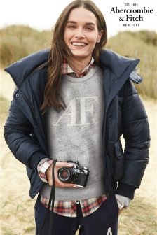 Abercrombie & Fitch Navy Core Padded Jacket
