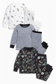 Snuggle Fit Pyjamas Three Pack (9mths-8yrs)
