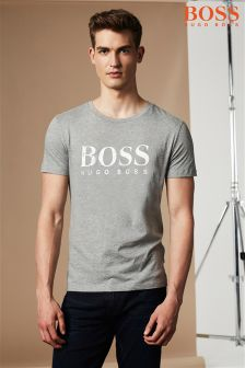 Boss Orange Grey Logo T-Shirt