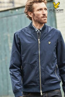 Lyle & Scott Navy Bomber Jacket