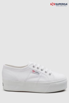 Superga® White Canvas 2790 Flatform